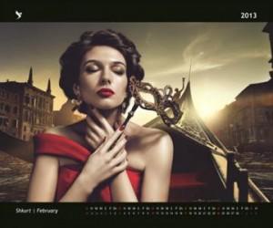 12 muajt e Jonida Vokshit në kalendarin sensual të 2013