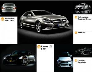 10 veturat më të shiturat gjatë vitit 2012