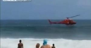 Momenti kur helikopteri përplaset në ujë në Rio