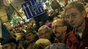 Protesta kundër ndryshimeve kushtetuese në Hungari