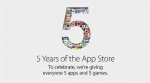 Aplikacione falas me rastin e 5 vjetorit të App Store