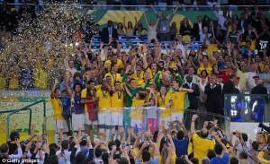 Brazili turpëron Kampionët e Botës