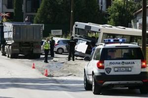 shkupAksident në Shkup, mbi 13 të lënduar