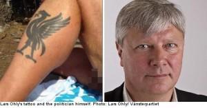 Në vend të tatuazhit politikani tregon gabimisht diçka tjetër