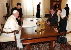 Frençesku takohet me Mbretin Abdullah të Jordanisë