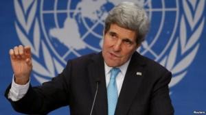 Kerry takim me opozitën ukrainase