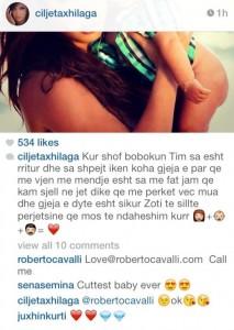 """Roberto Cavalli i çmendur pas Çiljetës, i shkruan """"Call me"""""""
