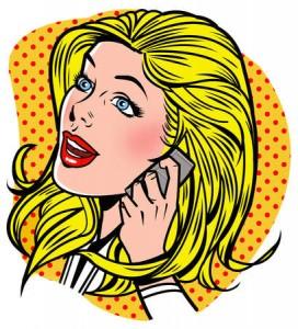 Gruaja shkurt në telefon...