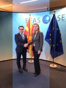 Fatmir Besimi raportoi tek Mogerini në Bruksel