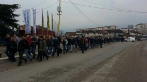 VV: Policia pengon ardhjen e protestuesve nga Peja