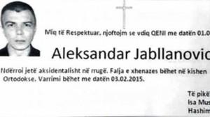 'Vdes' Jabllanoviq, të pikëlluarit Mustafoviq dhe Thaçiq