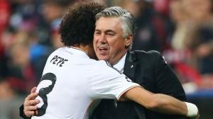 Carlo Ancelotti , lëvderon Marcelon dhe Pepen